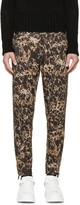 Alexander McQueen Black & Khaki Marbled Trousers
