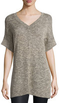 Eileen Fisher Textured Organic Linen Tunic, Natural