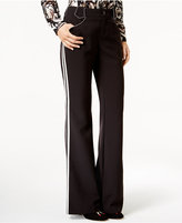 INC International Concepts Anna Sui x Piped Wide-Leg Pants, Created for Macy's
