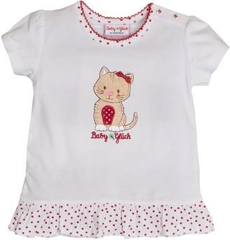 Salt&Pepper Salt and Pepper Baby Girls' BG T-Shirt uni Ruschen