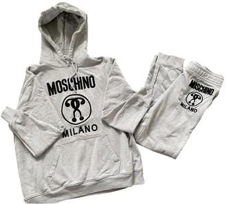 Moschino Grey Cotton Knitwear for Women