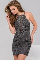 Jovani Embellished Halter Short Dress 47177
