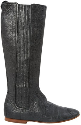 Balenciaga Grey Leather Boots