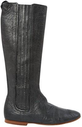 Balenciaga \N Grey Leather Boots