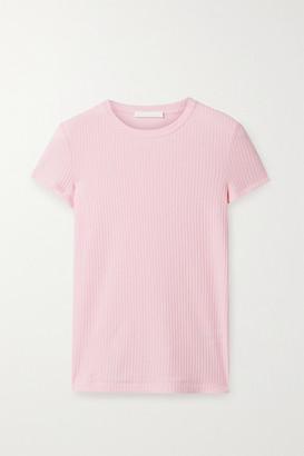 Helmut Lang Ribbed Cotton-jersey T-shirt - Pink