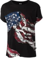 Just Cavalli flag print T-shirt - men - Cotton - L