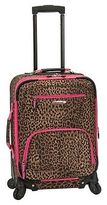 Rockland Mariposa Spinner Carry On Luggage Set - Pink Leopard