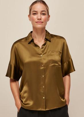 Relaxed Silk Satin Shirt