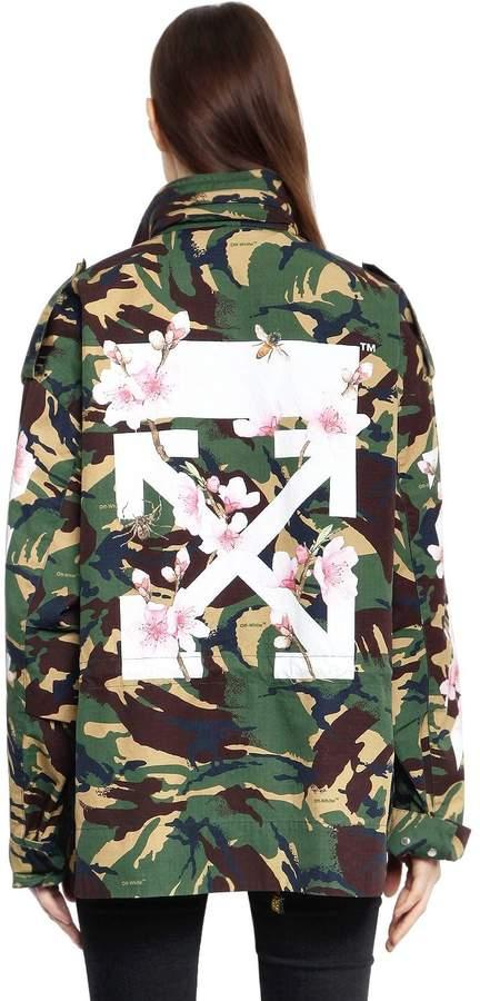 Off-White M65 Camo & Cherry Blossom Field Jacket
