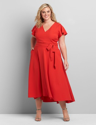 Lane Bryant Lena High-Low Midi Dress