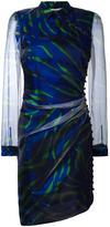 Marco De Vincenzo asymmetric sheer sleeve dress