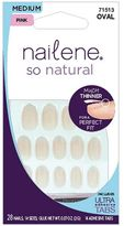 Nailene So Natural Nails Medium Sheer Oval