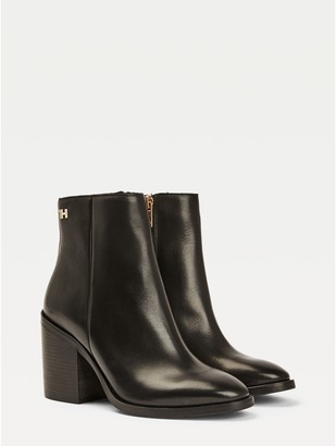 Tommy Hilfiger High Heel Leather Boot