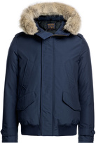 Woolrich Polar Down Bomber Jacket with Fur-Trimmed Hood