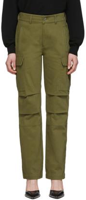 Alexander Wang Khaki Twill Cargo Trousers