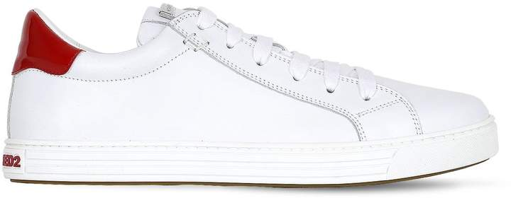 DSQUARED2 10mm Tennis Club Leather Sneakers