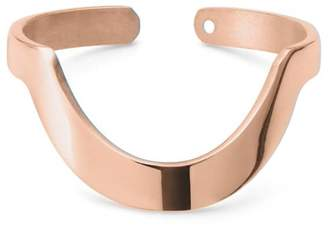 Ekria Large Round Stackable Ring Shiny Rose Gold