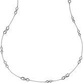 Dower & Hall Sterling Silver Entwined Long Infinity Necklace, Silver
