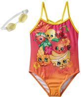 Girls 4-6x Shopkins Strawberry Kiss, Pippa Lemon & Cheeky Cherries Tropical Fruit One-Piece Swimsuit