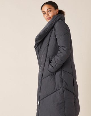 Under Armour Dhalia Long Padded Coat in Recycled Fabric Grey