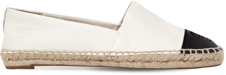 Tory Burch 20mm Two Tone Leather Espadrilles