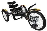 """Mobo Youth Mobito 16"""" Three Wheeled Cruiser Tricycle - Black"""