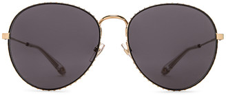 Givenchy Metal Round Sunglasses in Gold & Grey Blue | FWRD