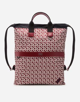 Dolce & Gabbana Nylon Backpack With Mania Print