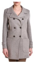 Eleventy Women's Grey Wool Coat.