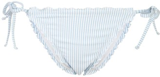 Onia Jaime micro-stripe bikini bottoms