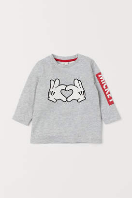 H&M Top with Printed Design - Gray