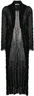 Romeo Gigli Pre-Owned 1990's Crunched Sheer Long Coat