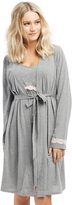 Motherhood Lace Trim Maternity Nightgown And Robe