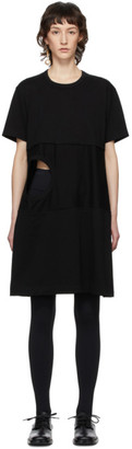 Comme des Garcons Black Cut-Out Hole T-Shirt Dress