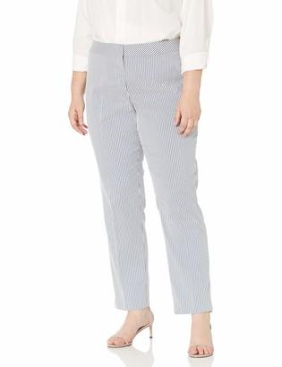 Nine West Women's Plus Size Stripe Trouser