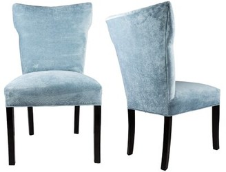 Everly Quinn Cresson Wing Back Upholstered Parsons Chair