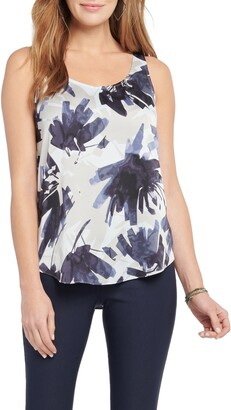 Nic+Zoe Inky Flowers Tank Top
