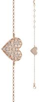 BETTINA JAVAHERI Double Sided Diamond Heart Bracelet