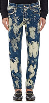 Gucci Men's Bleached Skinny Jeans-BLUE