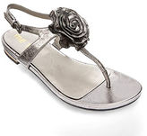 Me Too Benita Rosette Leather Thong Sandals