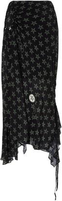 Preen Line Arya Ruched Floral-Print Chiffon Midi Skirt