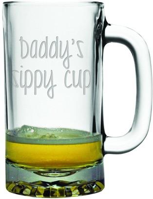 Susquehanna Glass Daddy's Sippy Cup Heavy Base Beer Mug 16 oz