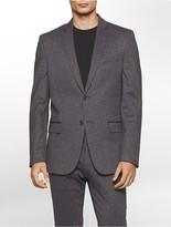 Calvin Klein Slim Fit Crosshatch Knit Jacket