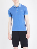 Armani Jeans Embossed-logo cotton-piqué polo shirt