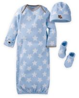 Gerber Preemie 3-Piece Organic Cotton Bear and Stars Starter Set in Blue