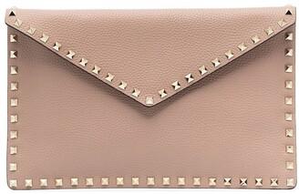 Valentino Rockstud leather clutch