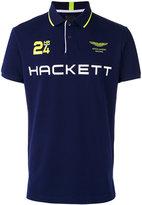 Hackett logo print polo shirt - men - Cotton/Spandex/Elastane - M