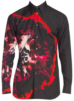 Alexander McQueen Graphic Silk Shirt