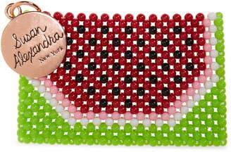 Susan Alexandra Watermelon-ita Beaded Card Holder