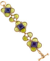 Oscar de la Renta Crystal & Glass Link Bracelet